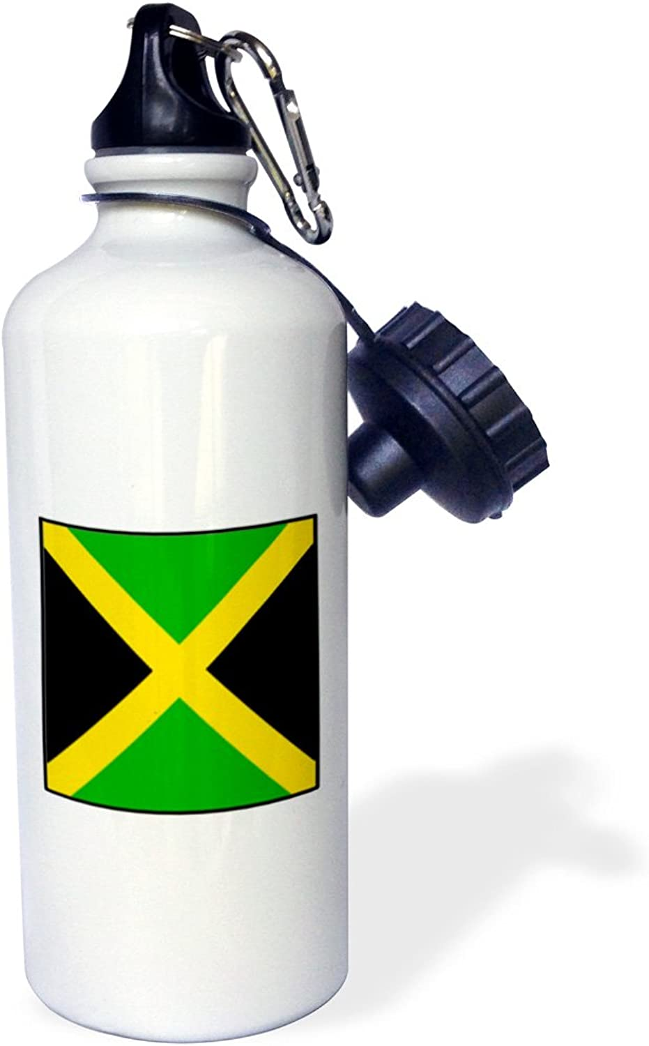 3dpink wb_80983_1  Photo Of Jamaica Flag Button  Sports Water Bottle, 21 oz, White