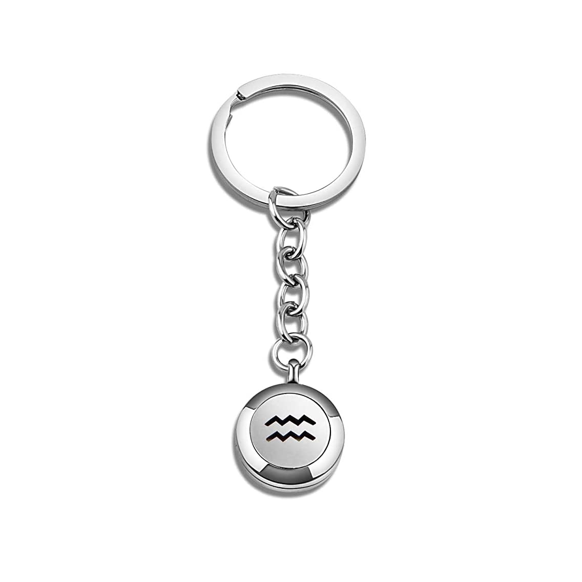 BNQL Zodiac Essential Oil Diffuser Keychain Birthday Gift for Her