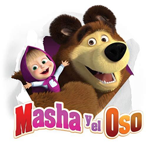 VINILO DECORATIVO MASHA Y EL OSO 70X50 CM.