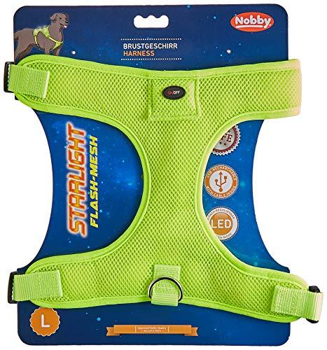 Nobby 80752-24 Geschirr Flash MESH L: Brust: 55-70 cm; Bauch: 60-80 cm, neon gelb