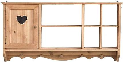 MU Pływające półki półka wisząca dekoracyjna szafka wieloprzedziałowa półka drewniana z uchwytem stojakiem ekspozycyjnym, ...