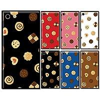 スマホケース スクエア ガラス 四角 お菓子 ビスケット クッキー ハート 04:ブラック iphone6 iphone6s