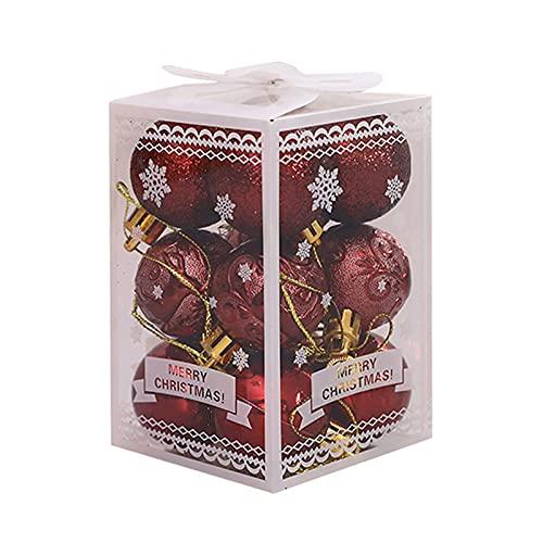 Niuirb 36 mini bolas de Navidad adornos de 4 cm pequeñas bolas...