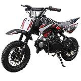 X-PRO 70cc Dirt Bike Pit Bike Kids Dirt Pit Bike 70cc Child Dirt Bike Dirt Pitbike (Black)