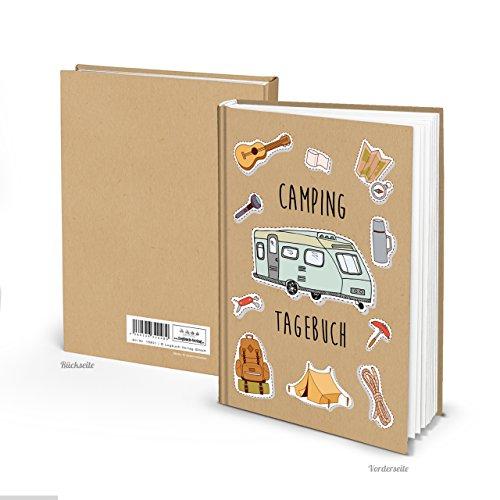 Logbuch-Verlag kleines Camping Tagebuch Reisetagebuch Camper Geschenk DIN A5 Notizbuch Fahrtenbuch zum Einschreiben und selber gestalten