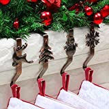 OUFINI Stocking Holders for Mantle - Christmas Stocking Holder for Mantle Christmas Stocking Hangers for Mantel Stocking Hooks for Fireplace Stocking Holders Stocking Hanger for Christmas Decoration