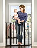 Best Walk Through Baby Gates - Regalo Arched Decor Extra Tall Safety Gate, Bronze Review