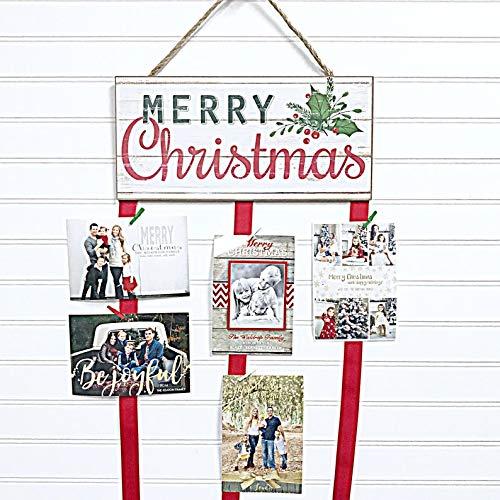 Christmas Card Holder - Merry Christmas (Holly)