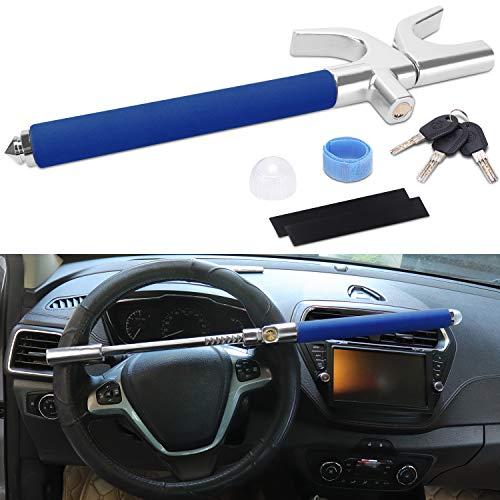Turnart Universal Lenkradkralle Lenkradschloss Für Auto/LKW/SUV/Van Diebstahlsicherung Auto Diebstahlschutz Mit 3 Schlüsseln (Blau)