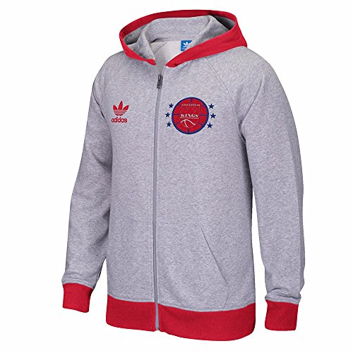 adidas Sacramento Kings NBA Grey Originals - Sudadera con capucha para hombre (S)
