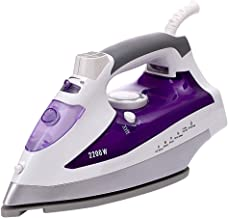 Small Portable Handheld Steam Irons Steam Generator Iron with Non Stick Ceramic Soleplate 2200W 350Ml High Capacity Water ...