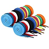 12 Pairs Flat Shoelaces Shoelaces for Sneakers Shoe Laces Strings for Sports Shoes Boots Sneakers Skates (Random Assorted Colors)