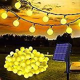 Nuevo tipo de luces solares de cadena, 100 luces LED blancas de...