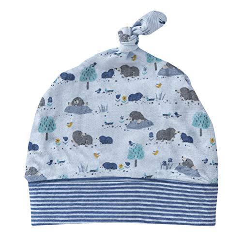 People wear organic Bonnet pour bébé et Enfant en Coton Bio imprimé Bleu Taille 45/47