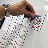 mcSquares Stickies Dry-Erase Sticky Notes - Reusable Whiteboard Stickers - 3 inch Square 24 Pack - Post Reminders, Labels, Lists, and Decals - Never Buy Paper Notes Again, Its Eco-Friendly!