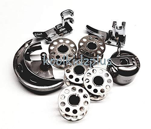 Juego de accesorios para máquina de coser, caja de bobina, bobinas ...