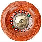 Ansudam Holz Roulette Rad, 12-Zoll-spaß Freizeit Unterhaltung Roulette-tische Spiel Plattenspieler Für Familienspaß Komplette Roulette-Set Plattenspieler Freizeit Tischspiele