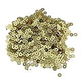 Paillettes, Perle Rotonde Lucide, Ø 3 mm, 2400 Pezzi. e 4 mm, 1200 Pezzi. per Cucito Fai da Te, Decorazione Fai da Te Vestiti e Gioielli, Artigianato Metallico Sequin Colore a Scelta