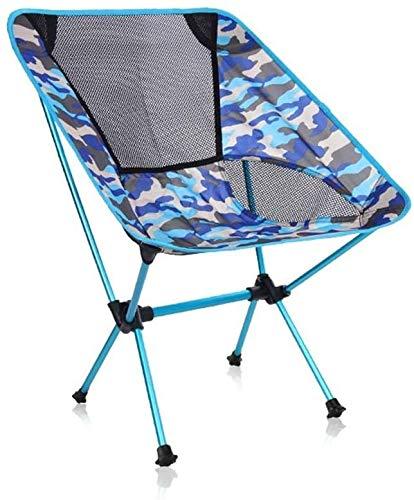 Camping en plein air Chaises pliantes Ultraléger portable avec sac de transport robuste for 150 kg Plage Randonnée pique-nique Pêche (Color : Blue)