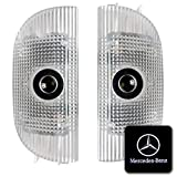 QCDIN for Mercedes Benz Car Door Logo Light, No Fading High Definition HD, LED Door Welcome Logo Light Laser Shadow Projector, For S-Class W220, For SL-Class R230 (Pattern 2)