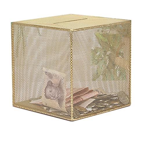 Yuan Ou Hucha Hucha de Metal Caja de Monedas de Acero Inoxidable de Gran tamaño Billetes y Monedas Hucha de Hierro Caja de Efectivo de Seguridad para niños Caja de Ahorro de Dinero 2