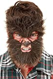 Smiffys Make-Up, Werewolf Face Fur Maquillaje FX, piel de hombre lobo, color marrón, (50811)