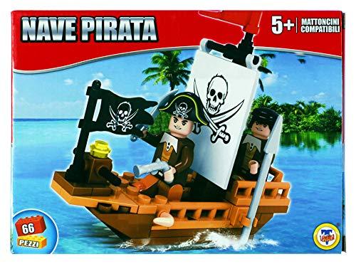 PLAY STORE Theorem Construction Set Barco Pirata 66 Piezas De Ladrillos CompatiblesCon Las Mejores Marcas