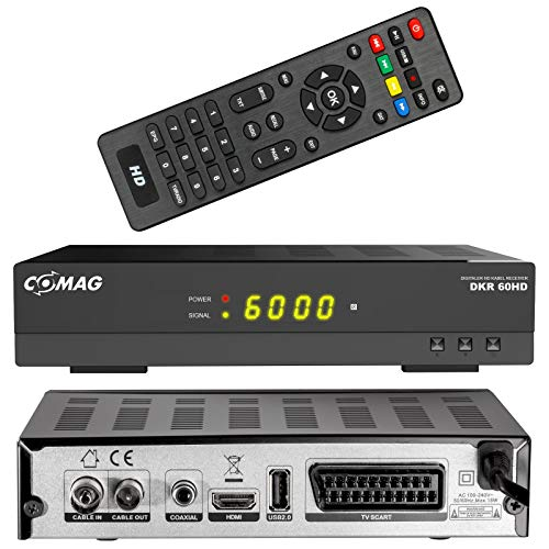 COMAG DKR 60 HD digitaler Full HD Kabel-Receiver (PVR Ready, HDTV, DVB-C, Time Shift-Funktion, HDMI, SCART, USB 2.0) schwarz
