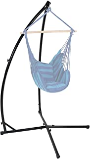 Sunnydaze Hanging Hammock X-Stand Only, Durable Steel Frame for Indoor or Outdoor Hanging Hammock Chairs