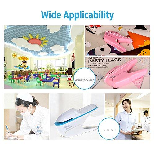 Aibecy heftklammerfreies Mini-Heftgerät, heftet bis zu 7Blatt ohne Heftklammern zusammen, für Arbeit, Geschäft, Schule, Büro - 7