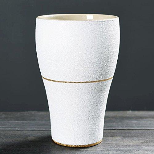 2 PCS Matte Modèles Tasse Céramique Boisson Tasse Handy Tasse Tasse d'eau Café Tasse Lait Tasse Petit Déjeuner Tasse Coupe Couples Tasse Bureau Chambre Maison Blanc UOMUN (Color : 320ml)