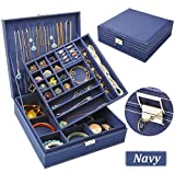 QBeel Jewelry Box for Women, Double Layer 36 Compartments...