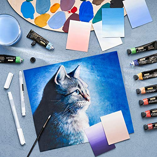 Arteza Gouache Paint, 24 Colors, 12ml, 0.4 US fl oz Tubes, Water-Based Paint for Canvas and Paper, Art Supplies for Professionals, Students, and Kids Photo #6