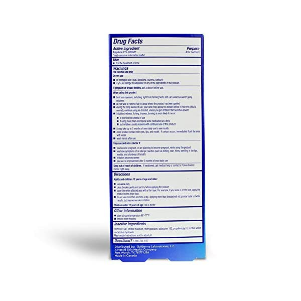 Acne treatment products Differin Adapalene Gel 0.1% Acne Treatment, 15 gram, 60-day supply