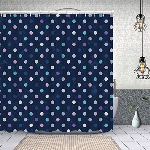 Duschvorhang,Polka Dots 50s 60s Muster für Kinderzimmer Spots Art Design,Enthält 12 Duschvorhanghaken waschbar,Wasserdicht Bad Vorhang für Badezimmer Badewanne 180X180cm