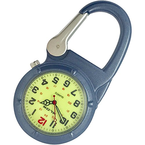 Clip-On Glow-in-The-Dark Watch - Blue