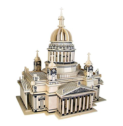 Kathedrale Kiew 3D Holzbausatz Gebäude Haus Steckpuzzle Bauwerk Holzpuzzle G-P248