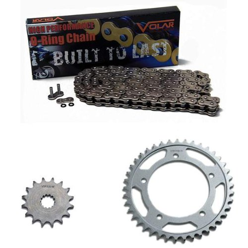 Volar O-Ring Chain and Sprocket Kit - Nickel for 2006-2010 Suzuki GSXR 600