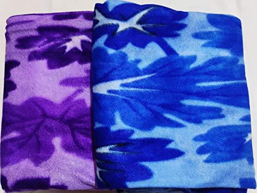 Shri Guru Clothing Rajai Cover / Woolen Fabric Quilt Cover / Duvet Cover / Blanket Cover (Single Bed) (2, Blue, Purple)