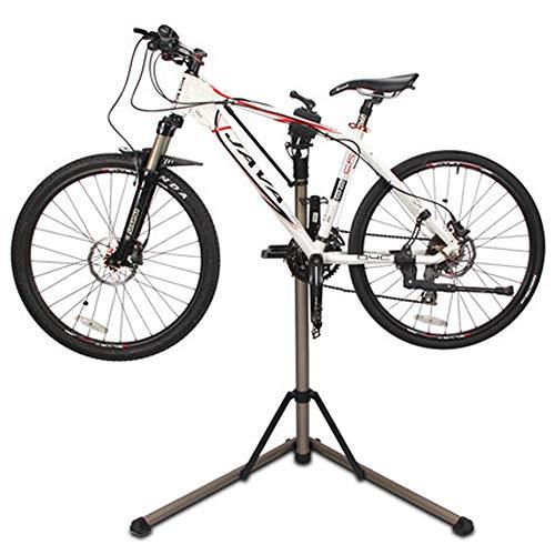 Baoniansoo Einstellbarer Mechaniker-Fahrradreparaturständer Wartungsständer mit Werkzeugablage Teleskoparm Ausziehbarer Fahrradreparaturständer, höhenverstellbar
