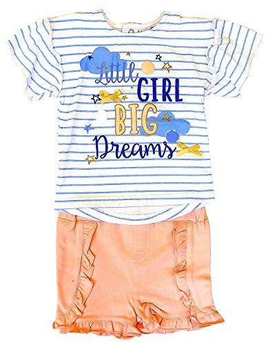 Jack and Lily Bébé Fille Petite Fille Grand Rêves Rayure T-Shirt & Volant Ensemble Short Tailles De 3 pour 24 Mois - Multi, 3-6 Months