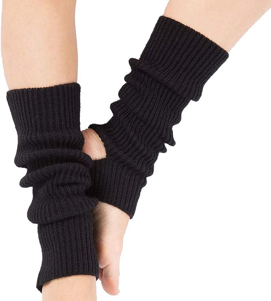 Vellette Calentadores para Mujer C/álido Invierno Calentadores de Pierna Calcetines para Botas de Punto Polainas para Se/ñoras Ni/ños