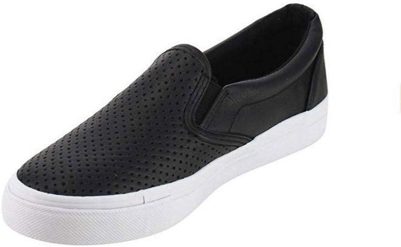 Iekofo Women Casual Solid Hollow Slip-On Flat Sneakers Fashion Sneakers