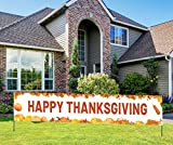 [Large Size Thanksgiving Banner] 9.8*1.6ft size thanksgiving banner will brings the real fun and unforgettable memory at your Thanksgiving party. [Premium Material] Unlike paper-made banner, This Thanksgiving banner is made of lightweight, sturdy and...