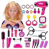 Hyman - Set di 35 giocattoli per il trucco per bambini, con asciugacapelli