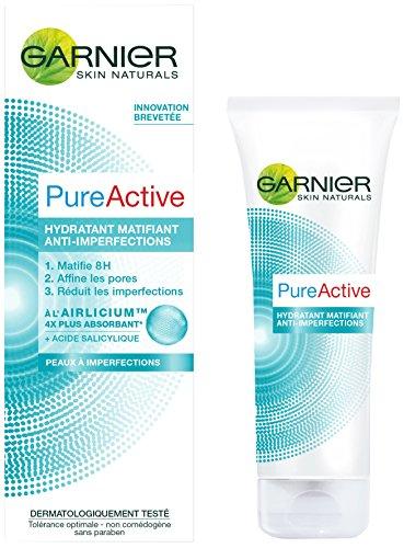 Garnier Skin Naturals - Pure Active - Matifiant visage - Soin matifiant Lot de 4