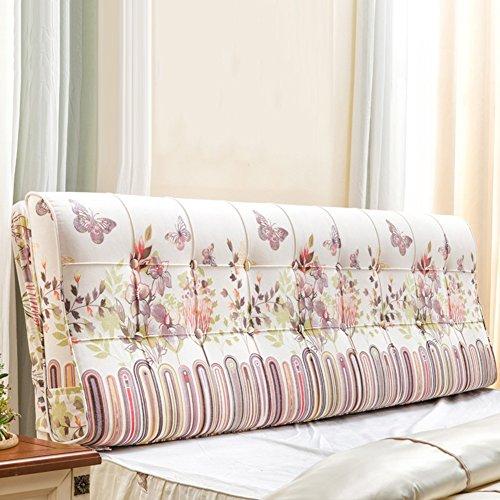 DNSJB tweepersoons hoofdeinde bed bed kussen kussens afdrukken geborduurd wasbaar slaapkamer bank mode eenvoudige hoofdeinde kussen pad, 4 kleuren, 6 maten