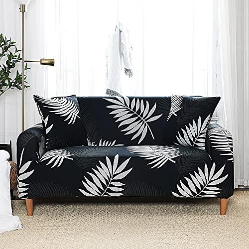 ASCV Geometry Sofa Slipcover Funda de sofá elástica Fundas de sofá para Sala de Estar Mascotas Funda de sillón seccional en Forma de L A2 2 plazas
