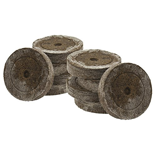 Jiffy avec 7 Pots original Source de tourbe de 41 mm pour faire pousser les boutures et sämlingen à semis Terre Culture de terre de tourbe Tablette Tourbe Quel ltabs avec greenception wuchs Engrais vers. Quantités 41mm marron