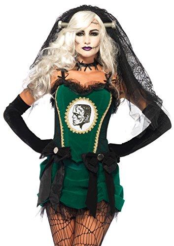 Leg Avenue 85446 - Deluxe Braut von Frankenstein Kostüm, Größe Small (EUR 36)